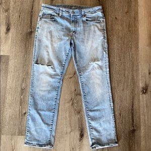 America Eagle Slim Straight Distressed Jeans